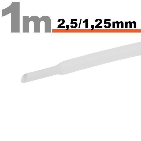 Zsugorcső 2,5mm/1,25mm fehér