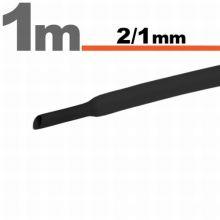 Zsugorcső 2,5mm/1,25mm fekete
