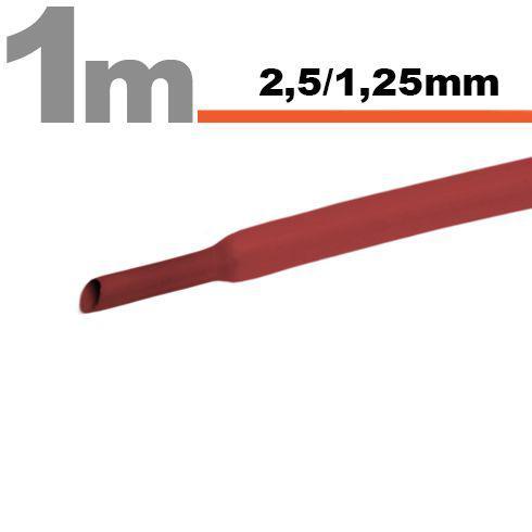 Zsugorcső 2,5mm/1,25mm piros