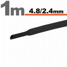 Zsugorcső 4,8mm/2,4mm fekete