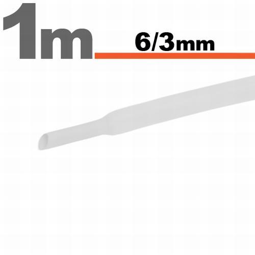 Zsugorcső 6mm/3mm fehér
