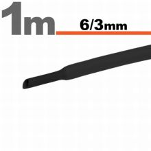 Zsugorcső 6mm/3mm fekete
