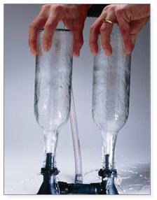 Csapra szerelhető üvegöblítő dupla (155)