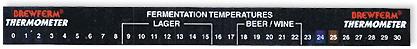 Hőmérő matrica liquid crystal0-32 (210)