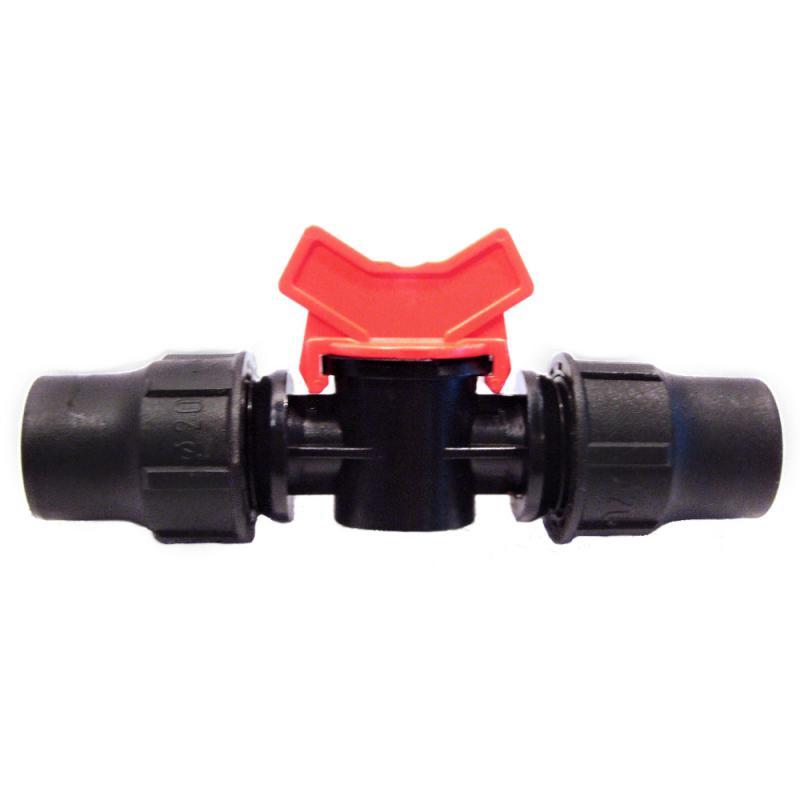Palaplast csap 20x20, tok gyorskötő (piros)