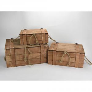 Fa ládák/ rekeszek / kosarak / bőröndök
