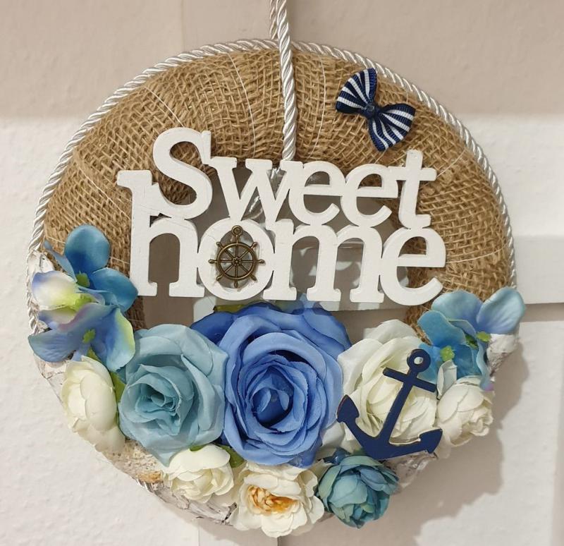 Ajtókopogtató Sweet Home 20cm