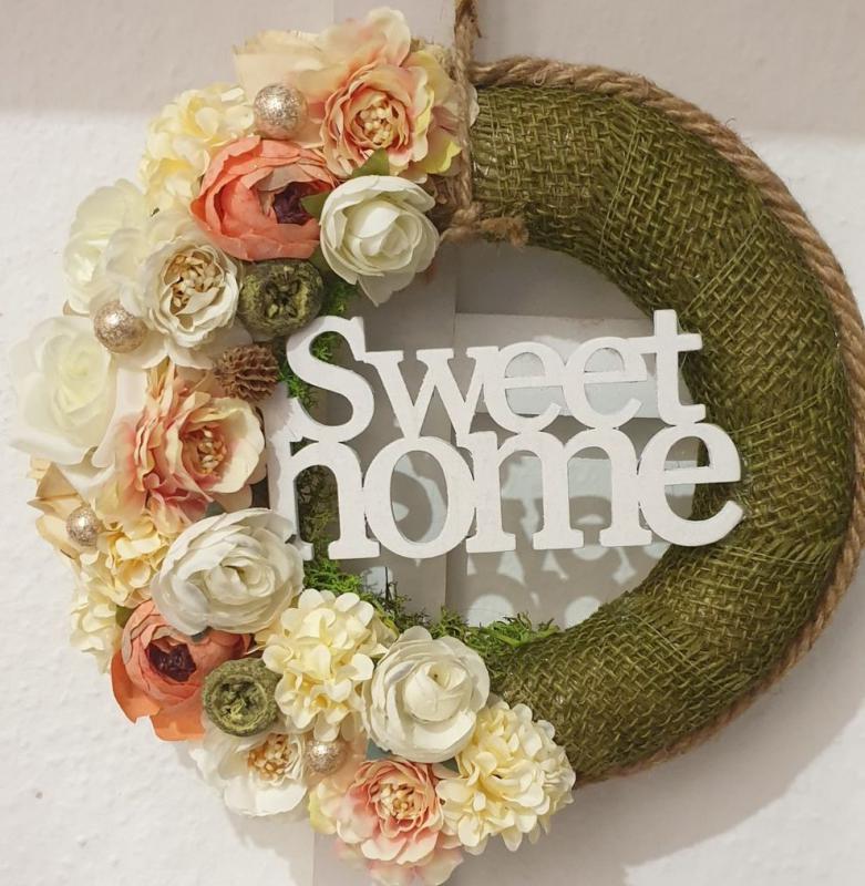 Ajtókopogtató Sweet Home 24cm
