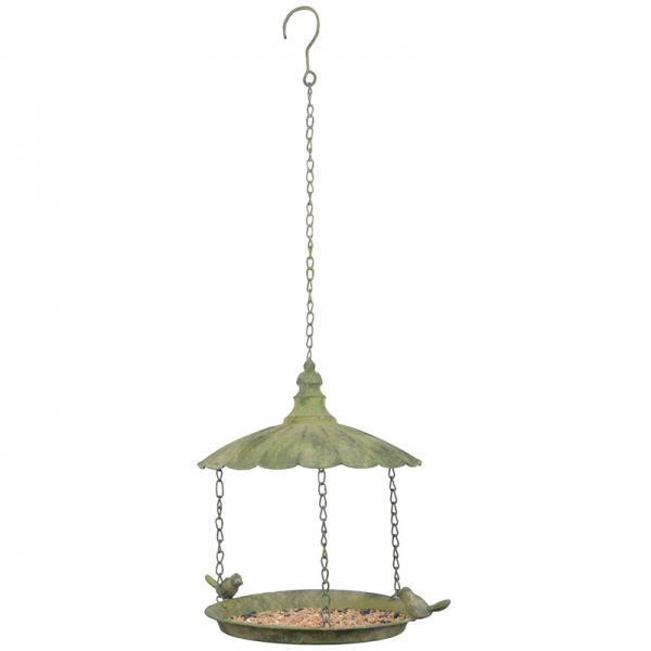 Antikolt fém madáretető