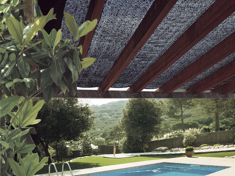 Árnyékoló háló pergolákra, kerítésekre Zöld SUN-NET