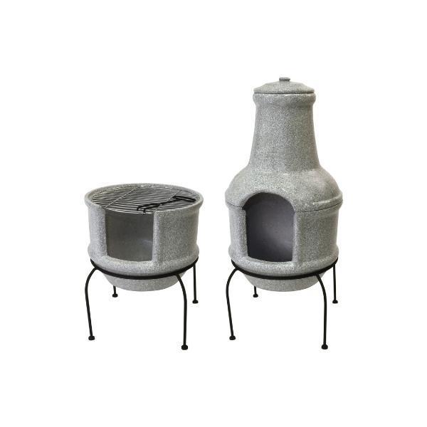 Beton hatású kerámia grill tűzhely