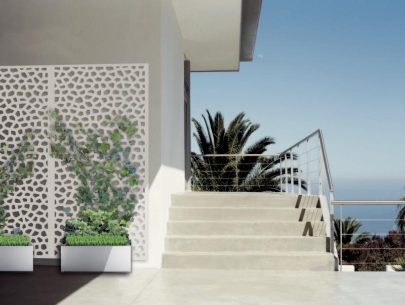 Dekoratív fém panel Fehér MOSAIC