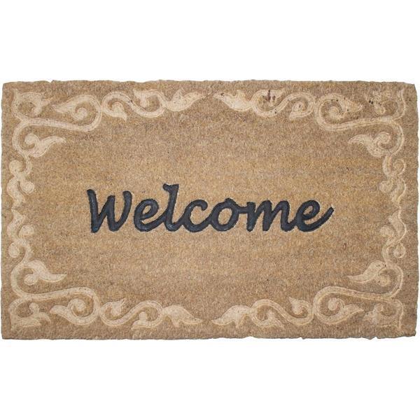 Díszes lábtörlő, welcome felirattal