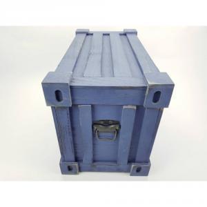 Fa láda konténer formával kék kicsi