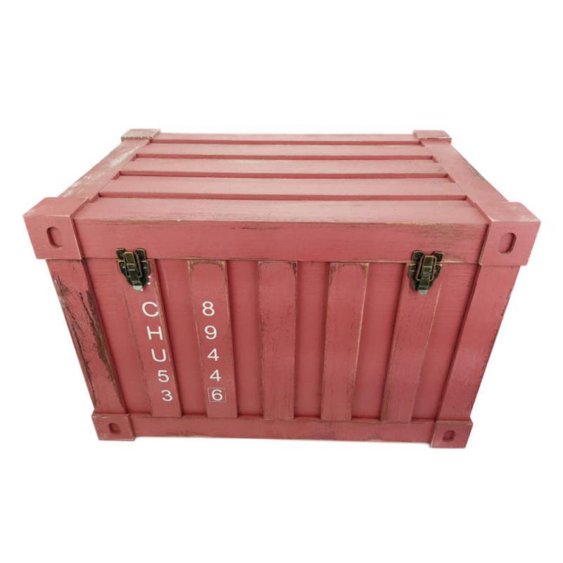 Fa láda konténer formával Piros nagy