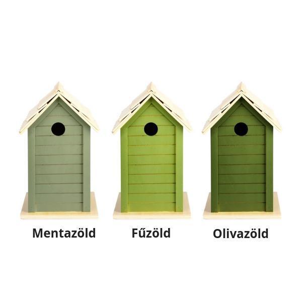 Fa madárház 3 féle Zöld színben