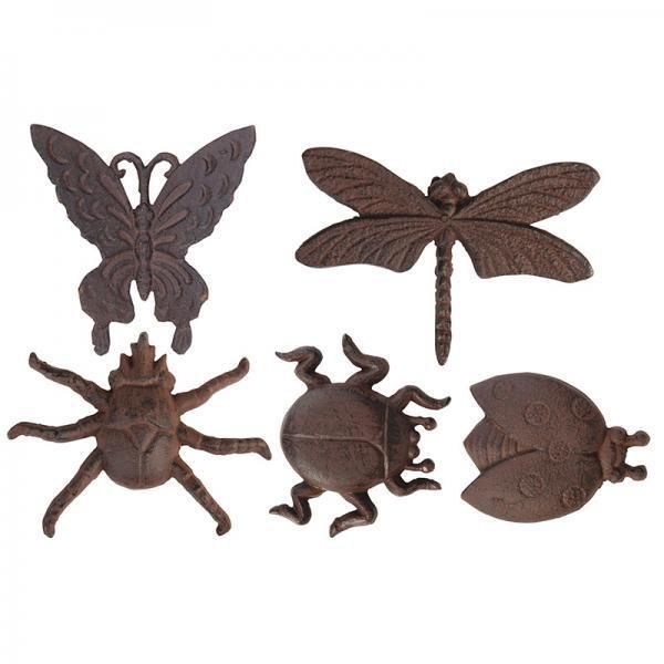 Fali dekoráció rovarok