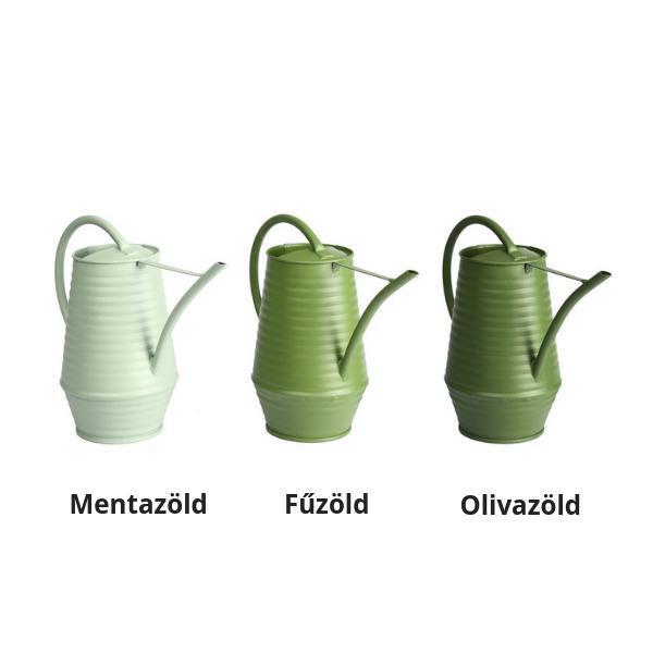 Fém beltéri locsolókanna 3 féle Zöld színben