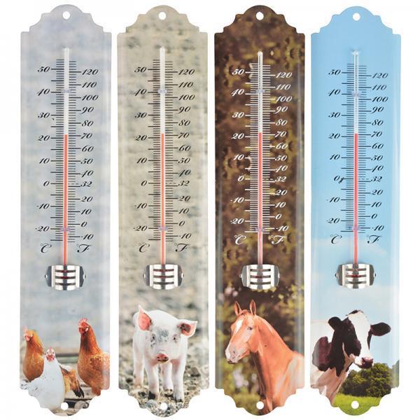 Fém hőmérő farm állatos 4 féle