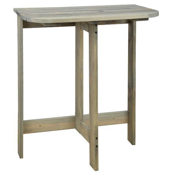Fenyő félkör asztal