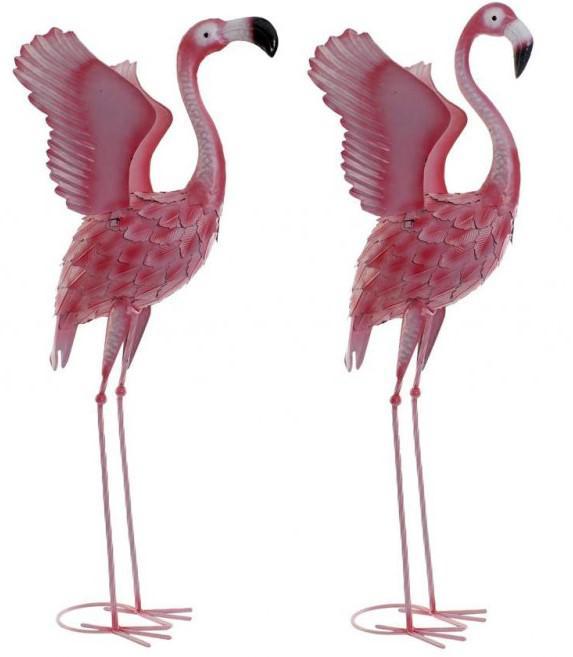 Flamingó figura fém