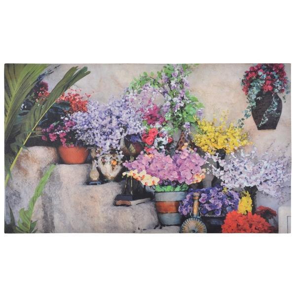 Gumi lábtörlő színes virágos