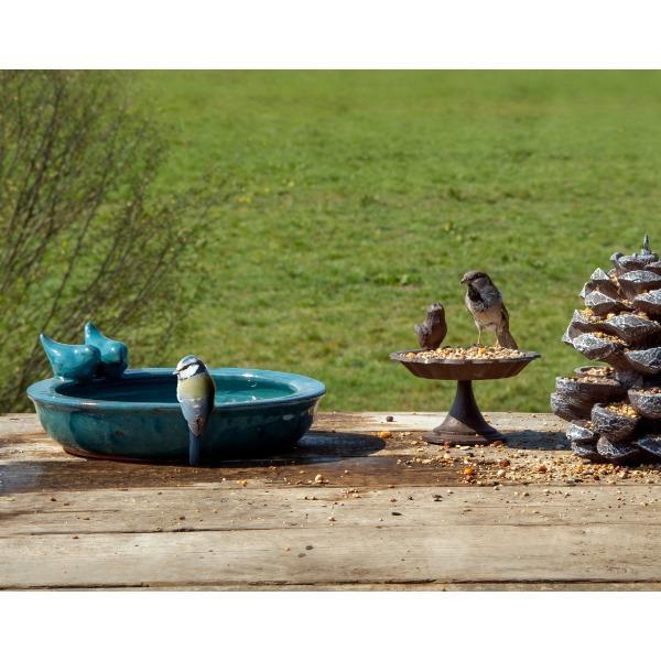Kerámia madáretető és itató tál