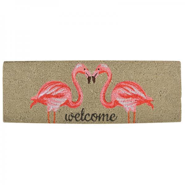 Kókuszrost lábtörlő flamingós