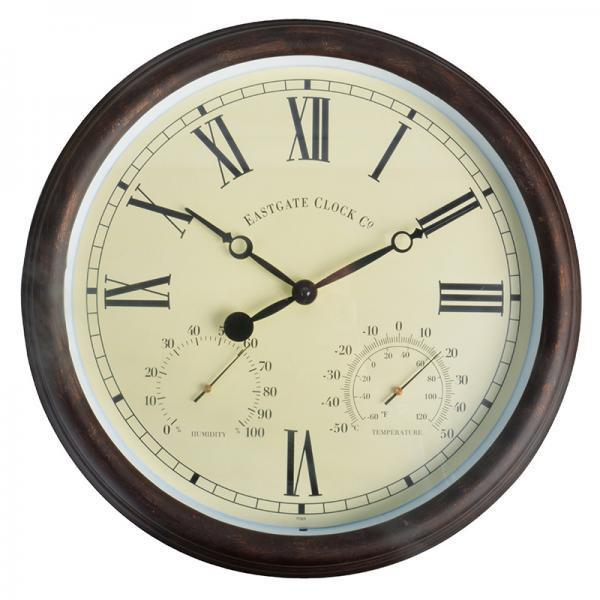 Kültéri óra hőmérővel és páratartalom mérővel