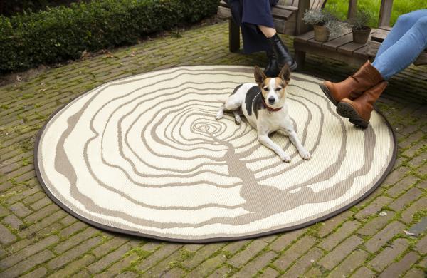 Kültéri szőnyeg kör alakú 170cm kétoldalas