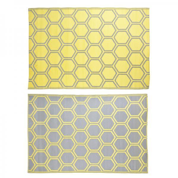 Kültéri szőnyeg sárga-szürke kétoldalas