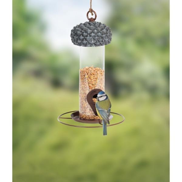 Makk formájú adagolós madáretető