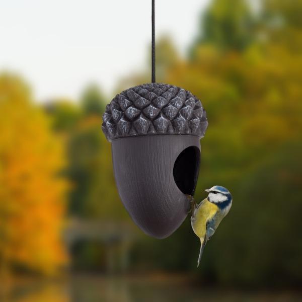 Makk formájú madárház akasztós