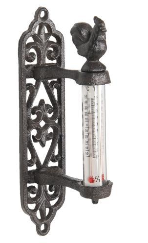 Öntöttvas hőmérő kakasos