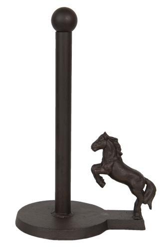 Öntöttvas papírtörlőtartó lovas