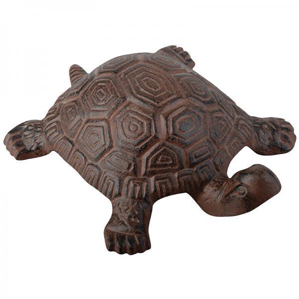 Öntöttvas teknős dísz