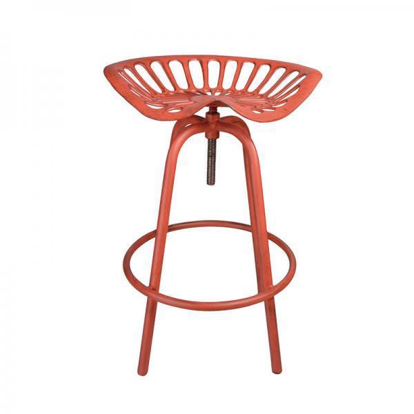 Öntöttvas traktor szék piros