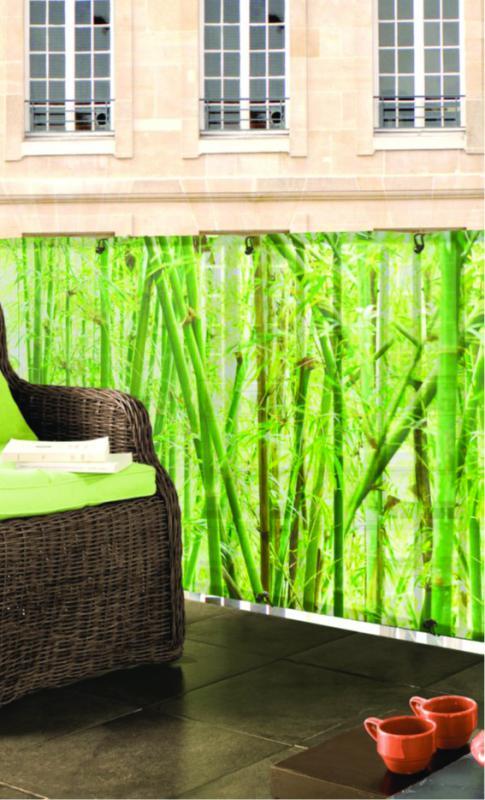 Szőtt árnyékoló háló bambusz mintás díszítéssel STYLIA
