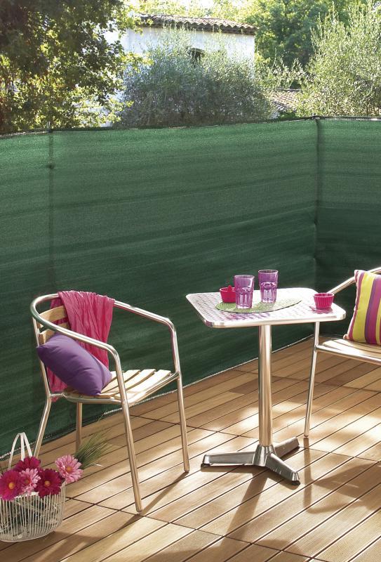 Szőtt árnyékoló háló Zöld 2x10m SUPRATEX