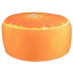 Kültéri puff Narancs mintás