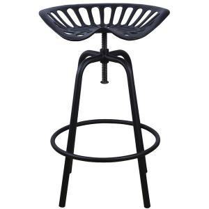 Öntöttvas traktor szék Fekete