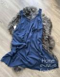 Lenege nyári ruha plus size Kék
