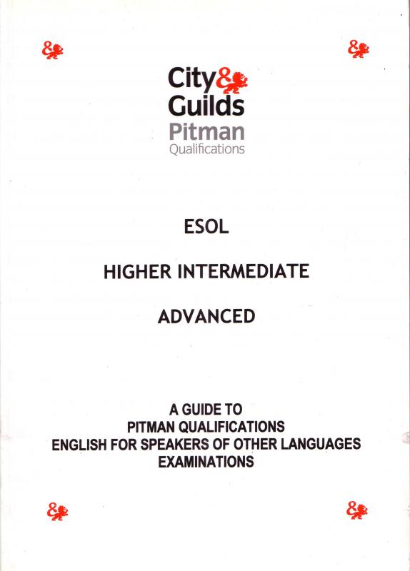 A guide to pitmen ESOL: A guide to pitmen Qualifications english speakers of other languages exam