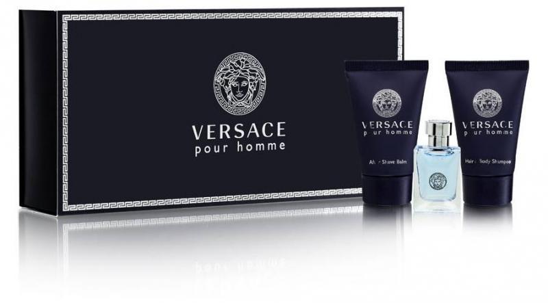 Versace Pour Homme EDT 50ml + 50ml Tusfürdő + 50ml After Shave Balzsam Szett Férfi