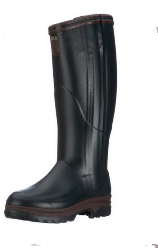 Aigle PARCOURS 2  ISO OPEN-Bronze(Sötétzöld) / Neoprén végig zippzáros csizma Naturkaucsuk./Bronze