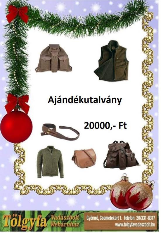 Ajándékutalvány 20000,- Ft