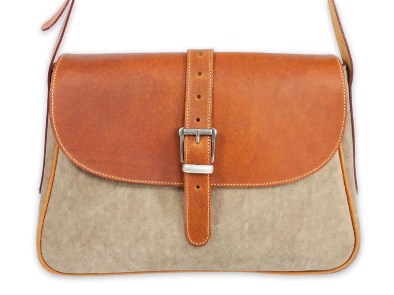 Bőr-canvas női táska