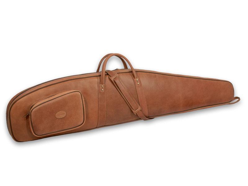 Bőr puskatok szivacs és vászon béléssel 115 cm vagy 123 cm hosszúságban wiszky és barna színbenú