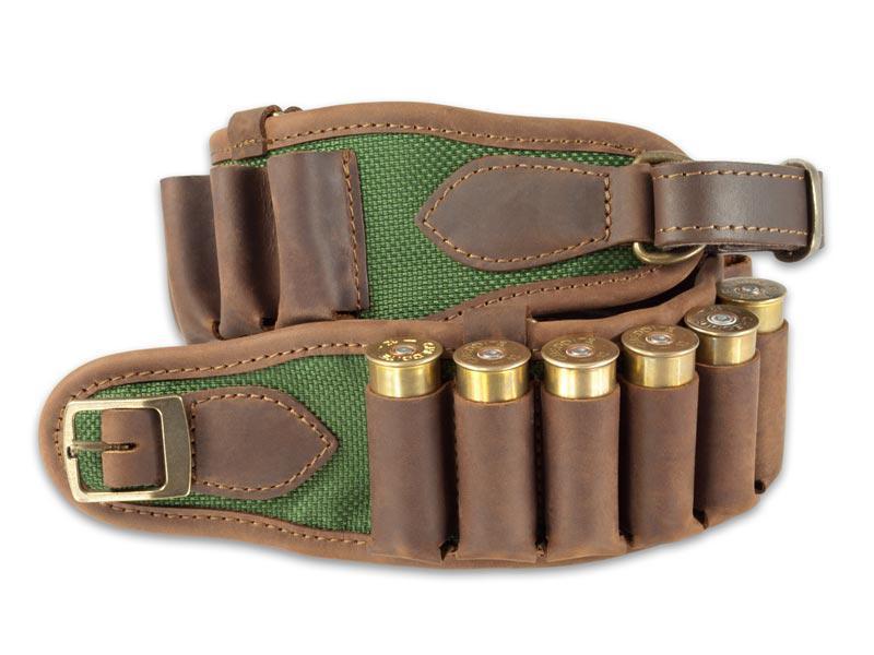Bőr-vászon töltényöv 12-16 os kaliber