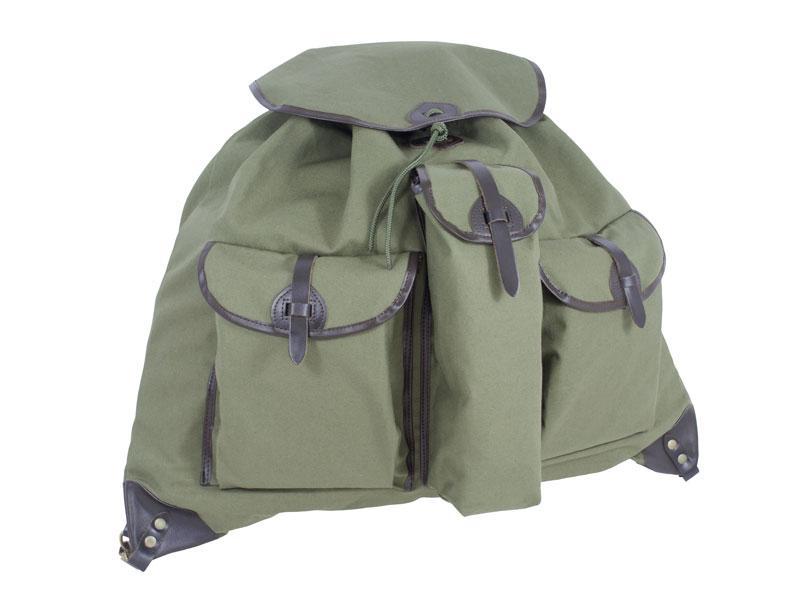 Vászon hátizsák 3 zsebes (termosztartós) vérzsákos